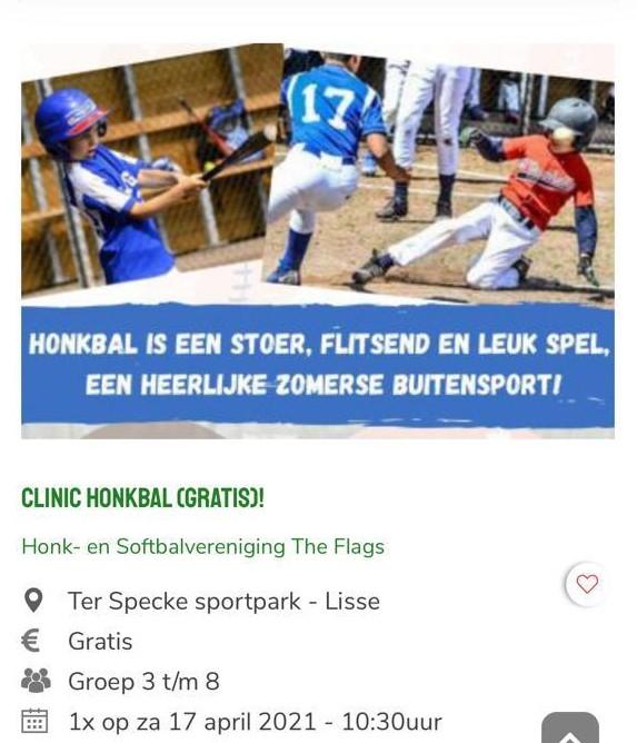 Clinic honkbal (gratis)!